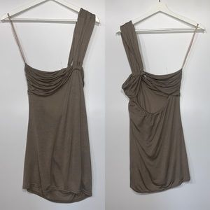 NEW Free People One shoulder Grecian draped top